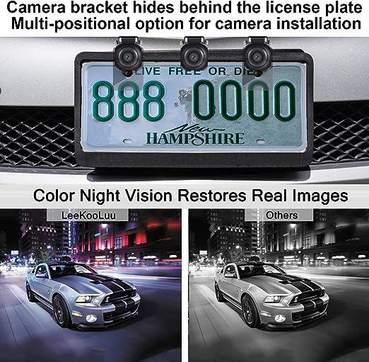 Leekooluu HD 960P Car Rear View Reversing Backup Camera for Car,SUV,Truck,Pickup,Van,Intelligent Movable Guild Lines IP 69K Waterproof Super Night Vision