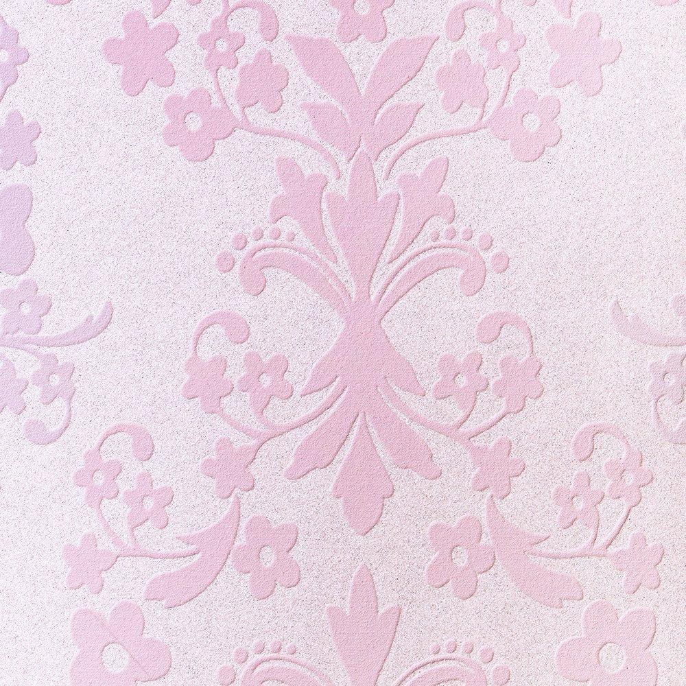 ルノン 壁紙1巻50m フェミニン ダマスク ピンク デザインパターン RH-9417 B01G6AFPIE 50m|ピンク