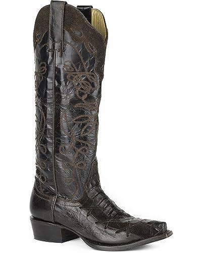 f4ed856b8bf Amazon.com   Stetson Women's Georgia Caiman Western Boot Snip Toe ...