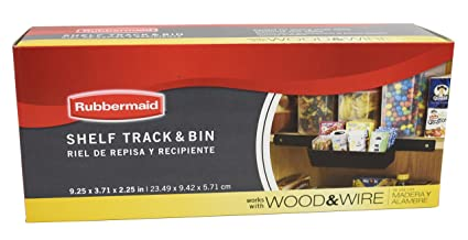 Rubbermaid Pantry Organization Shelf Track And Bin