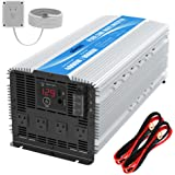 GIANDEL 4000W Heavy Duty Pure Sine Wave Power Inverter DC12V to AC120V with 4 AC Outlets with Remote Control 2.4A USB…