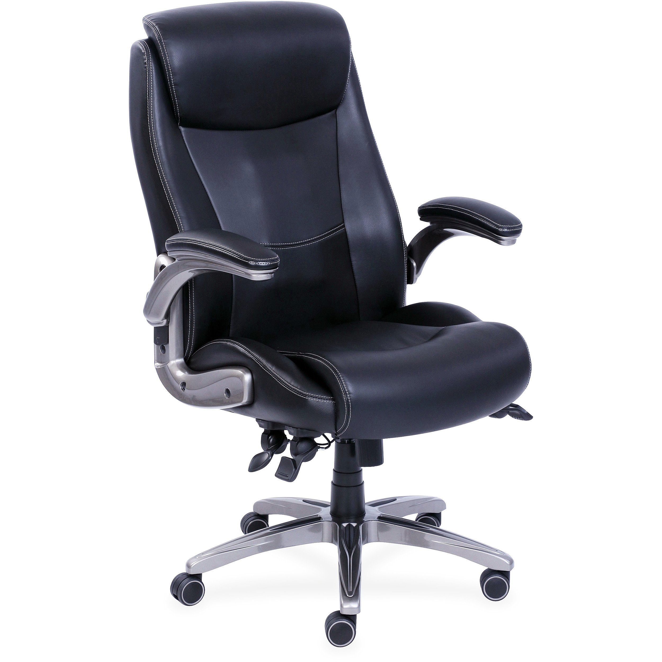 Lorell Revive Leather Executive Chair, Black