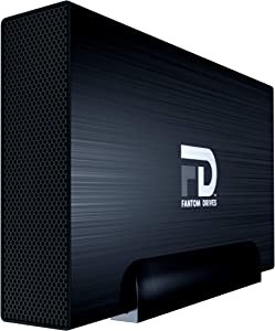 FD 8TB External Hard Drive - Super Fast 7200RPM USB 3.0 - Black Aluminum External Hard Drive for Mac, PC, Xbox One and PS4 - by Fantom Drives (GF3B8000UP)