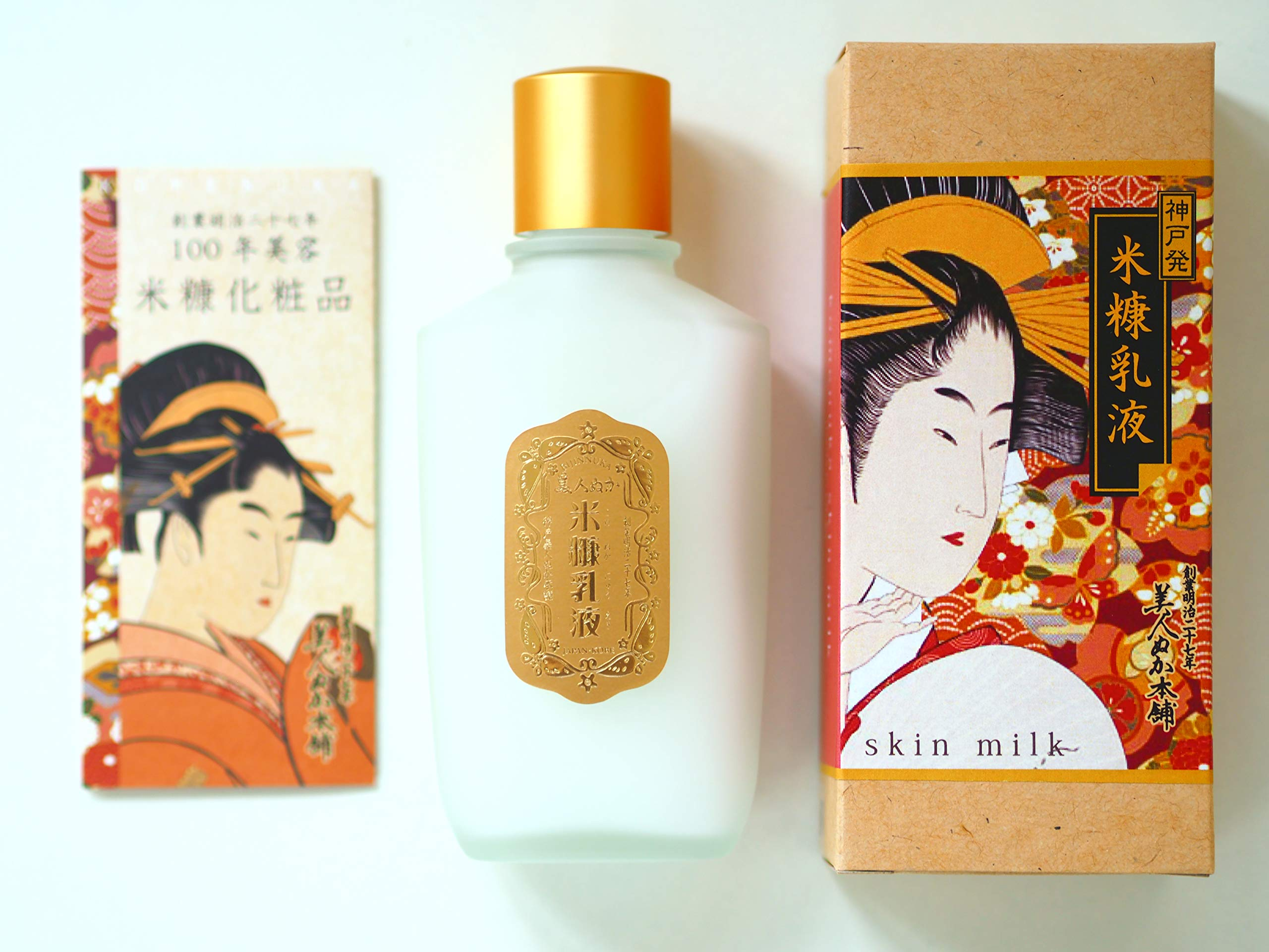 100 year komenuka bijin Rice Bran Skin Milk 100mL(ukiyoe package) Made in Japan