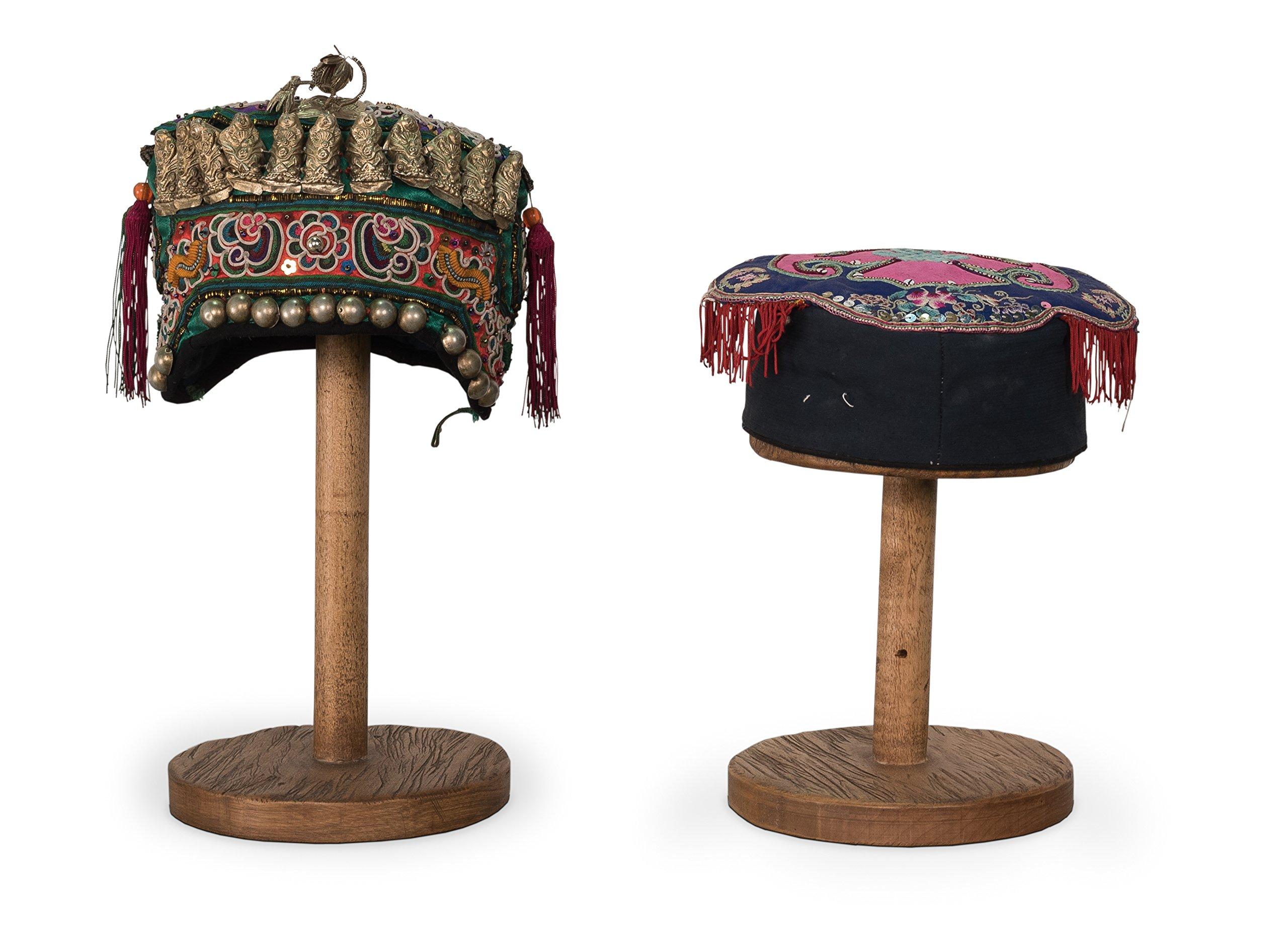 Sarreid SA-092A Pair of Antique Hats, Medium by Sarreid