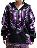 RaanPahMuang Winter Fleece Lined Hoody Long Sleeve Jumper Jacket Africa Dashiki