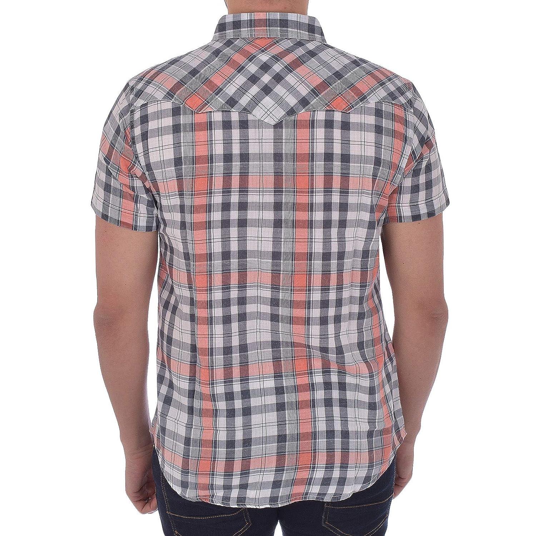 54e3d65869d Wrangler Mens Check Short Sleeved Western Shirt  Amazon.co.uk  Clothing