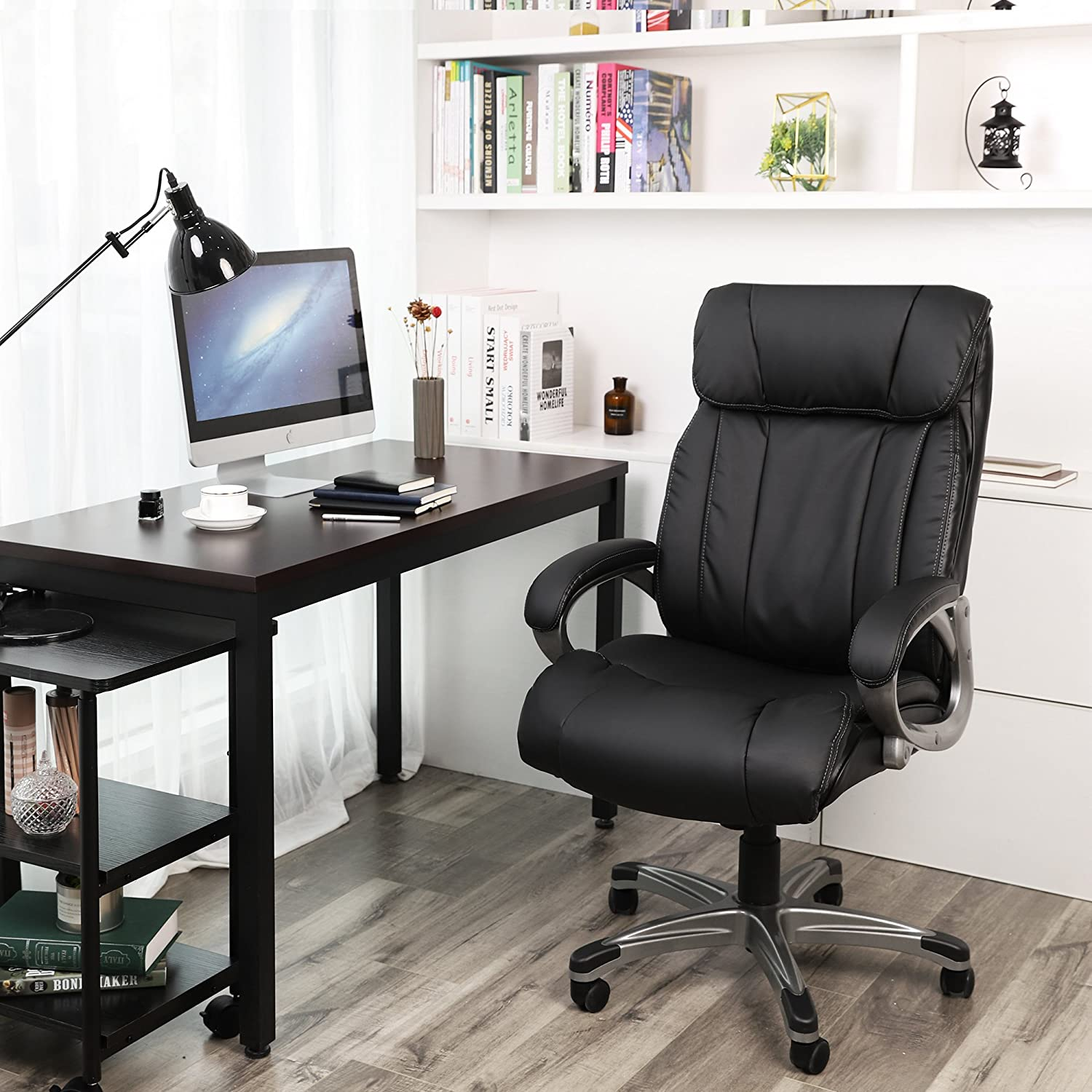 Amazon.com: SONGMICS Thick Office Chair Executive Chair with ...