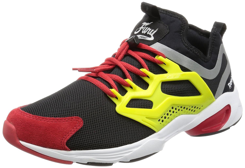 Reebok Fury Adapt AR1868 Herren Sneaker Laufschuhe Schwarz/Mehrfarbig  Size UK 8|Black/Hype