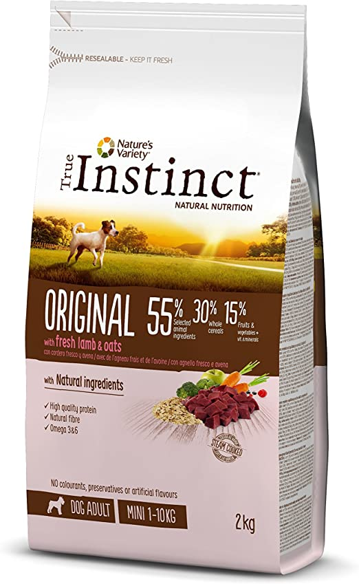 Oferta amazon: True Instinct Original - Pienso para Perros Mini Adultos con Cordero - 2kg