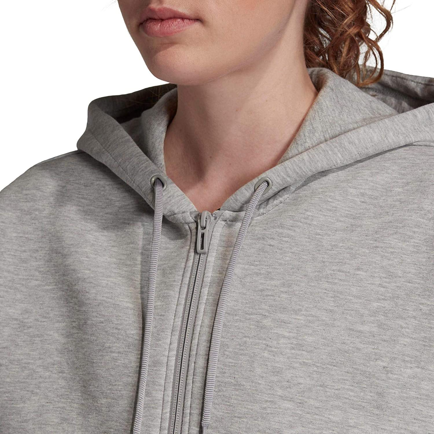 adidas Womens Must Haves Doubleknit Hoodie Sweat à Capuche Femme M Grey Heather/White