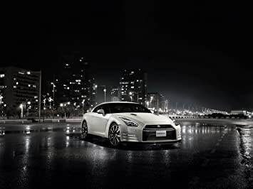 Nissan GT R R35 (2014) Car Art Poster Print On 10 Mil Archival