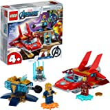LEGO Marvel Avengers Iron Man vs. Thanos 76170 Cool, Collectible Superhero Building Toy for Kids Featuring Marvel Avengers Ir