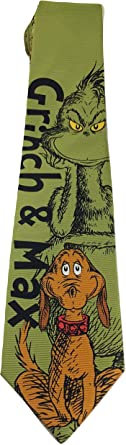SEUSS THE GRINCH REVERSIBLE NEW NOVELTY TIE DR