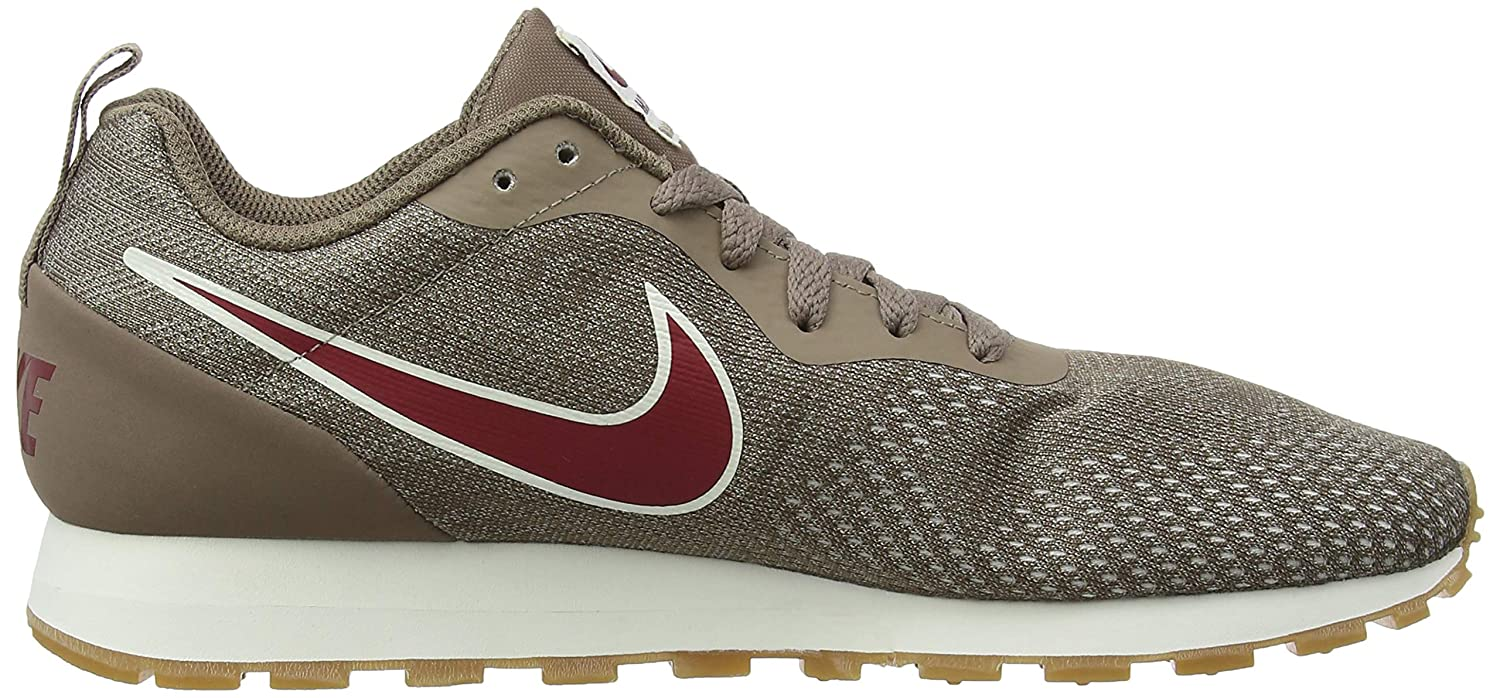 NIKE Damen Md Sneakers, Runner 2 Eng Mesh Sneakers, Md Mehrfarbig (Mink Braun/ROT Crush/String 001) 3b2812