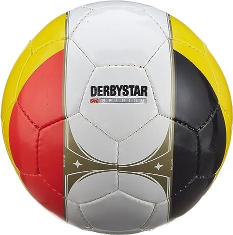 Derbystar 1672500100 – Balón de fútbol Bélgica, Negro/Amarillo ...