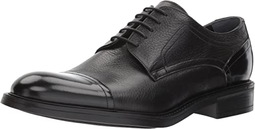 Men/'s Kenneth Cole New York You Bet Black Leather Oxford