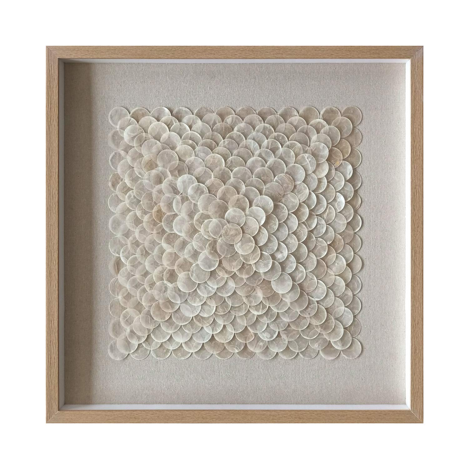 Capiz Shell Framed Wall Art, Abstract and Square Round Art Prints,Kids Decor, Living Room Entrance Corridor Wall Decoration Crafts Art Shadow Box