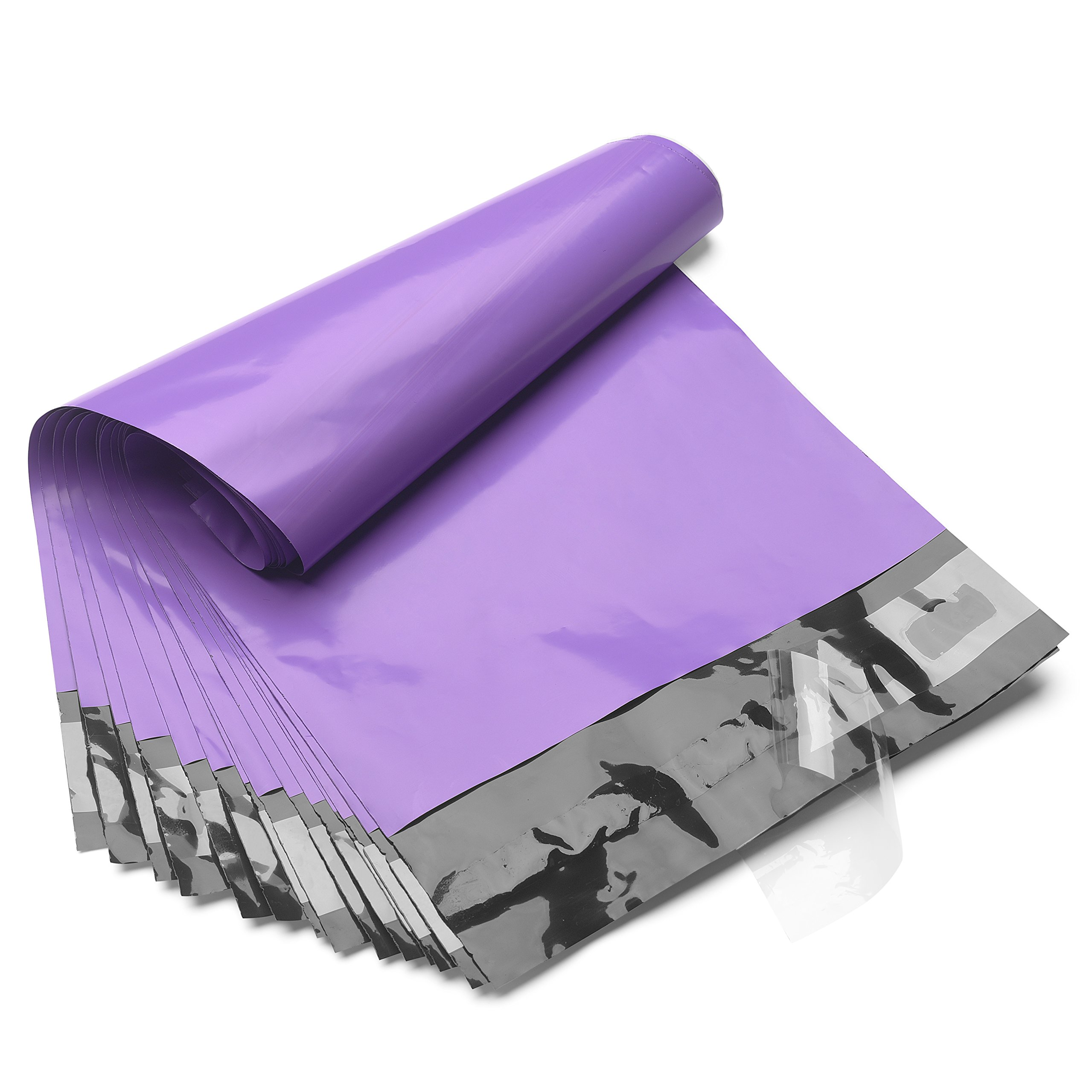 FU GLOBAL 14.5x19 Poly Mailers Shipping Envelops Boutique Custom Bags Enhanced Durability Multipurpose Envelopes Keep Items Safe & Protected(Purple,100PCS)