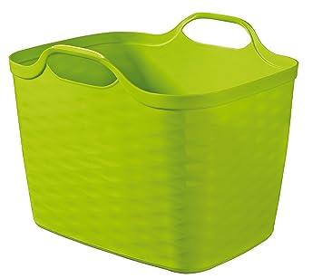 pas mal d37ff ea2b0 CURVER 216650 Panier de Rangement-Flexi Basket-27 litres, Polypropylène,  Vert Pop, 43 x 35 x 33 cm