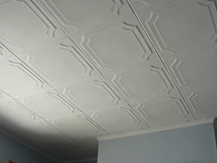 Amazon Com Td Polystyrene White Ceiling Tile To Cover