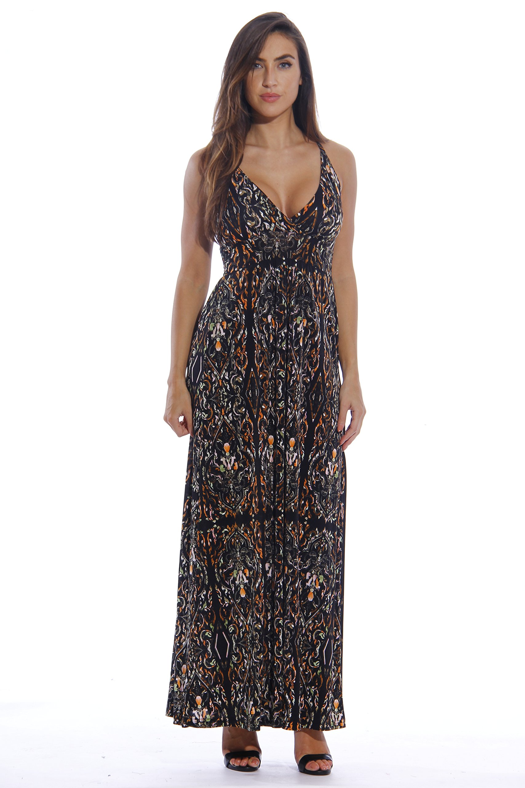 8858-54-1X Just Love Maxi Dresses for Women / Summer Plus Size Dresses,Stained Glass Window Print,1X Plus,Stained Glass Window Print,1X Plus