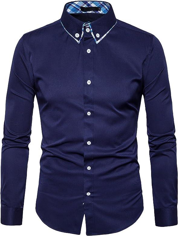 Camisas Casual De Hombre Formales Tonlen Hombres Camisa Vestir vmn0wN8O