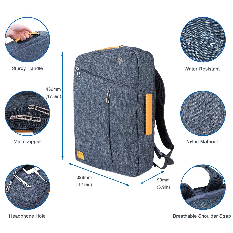 WIWU Evecase - Mochila de Lona Convertible Resistente al Agua, Compatible con HP/DELL/ASUS/Acer/Lenovo/Samsung/Toshiba/Apple MacBook, Color Gris Gris Gris ...