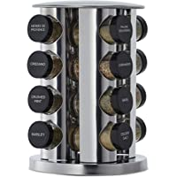 Kamenstein Jar Rotating Spice Rack, Stainless Steel
