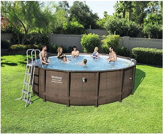 POWER STEEL DELUXE Juego de piscinas de acero inoxidable de lujo ...