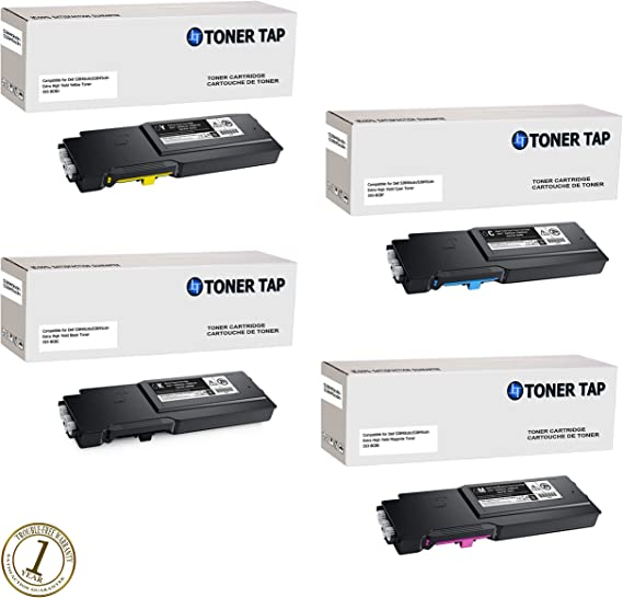 S3845cdn Printer Cartridge Replacement for Dell 593BCBD 593-BCBD Color Toner Cartridge 1-Pack Yellow Compatible S3840cdn High Capacity