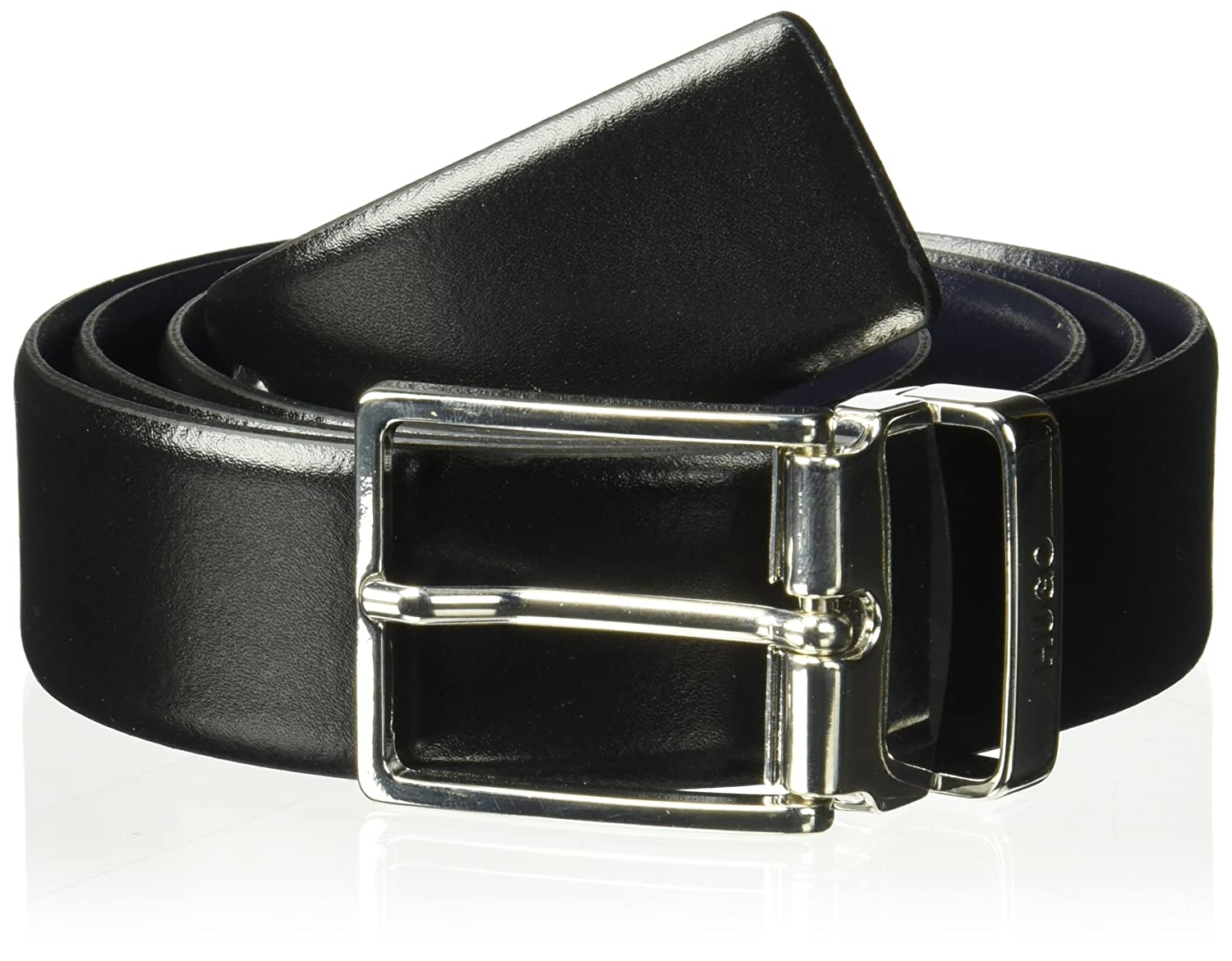 HUGO by Hugo Boss Men's Galvo Reversible Leather Belt Black/Navy ONE Size 50380313