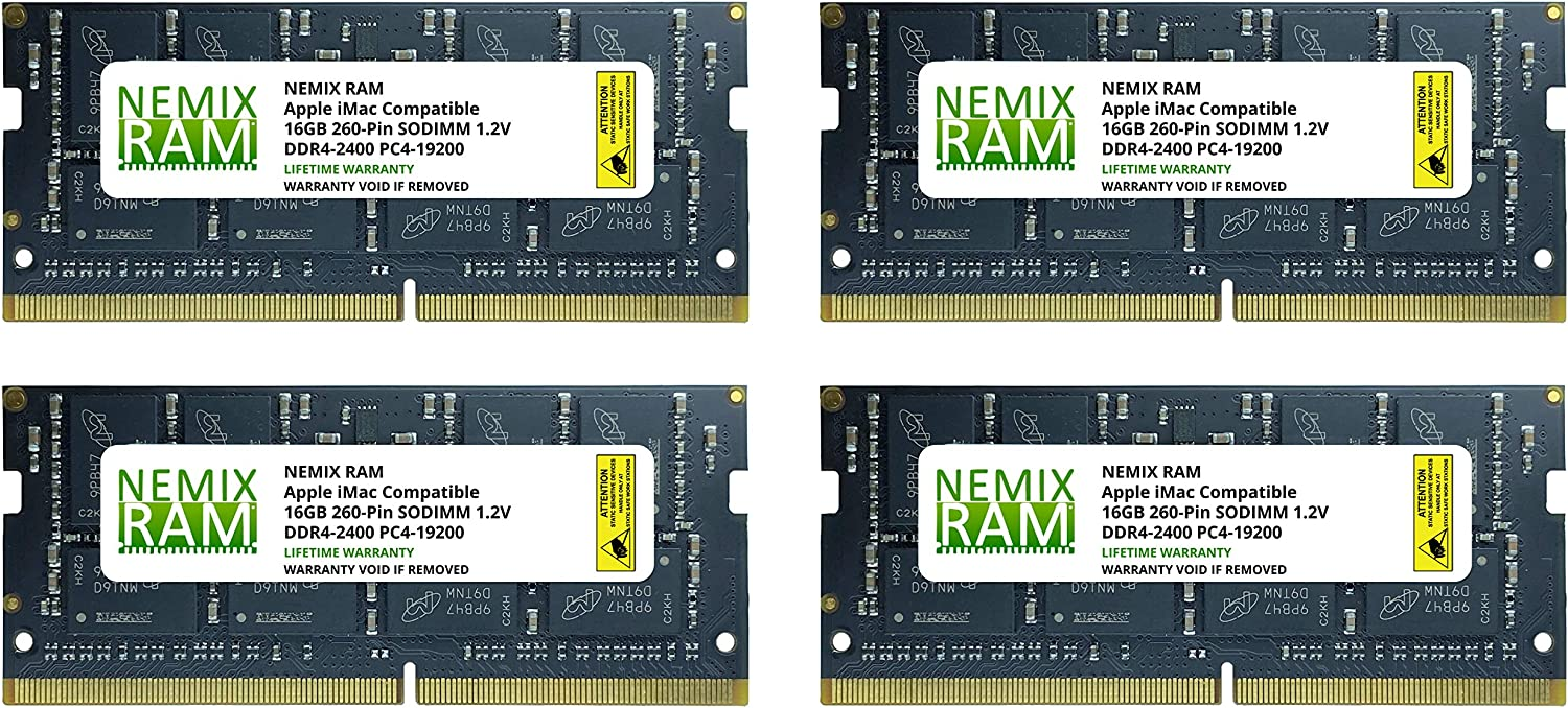 "64GB 4X16GB NEMIX RAM Memory for Apple iMac 2017 27"" Retina 5K"
