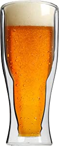 Trenton Gifts Double Wall Bottoms Up Beer Glass | 13 1/2 OZ.