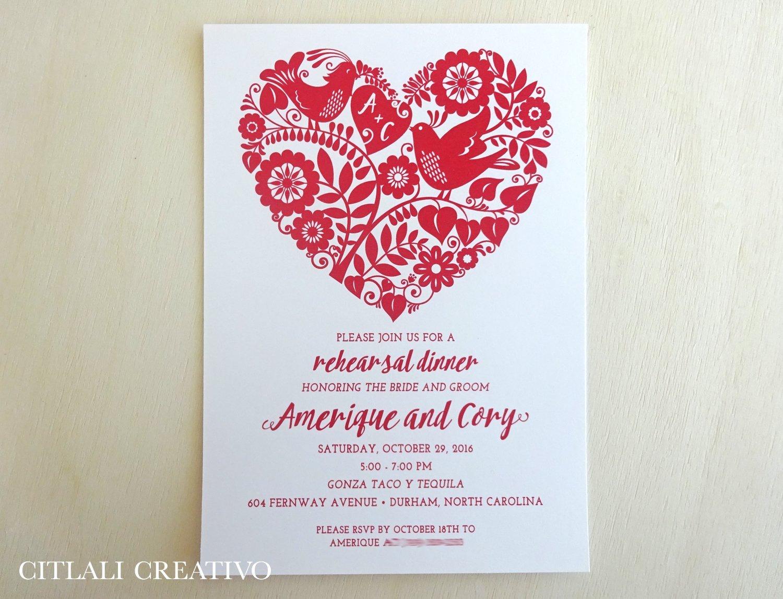 Amazon Com Heart Floral Wedding Invitation Set Of 10 Dove Love