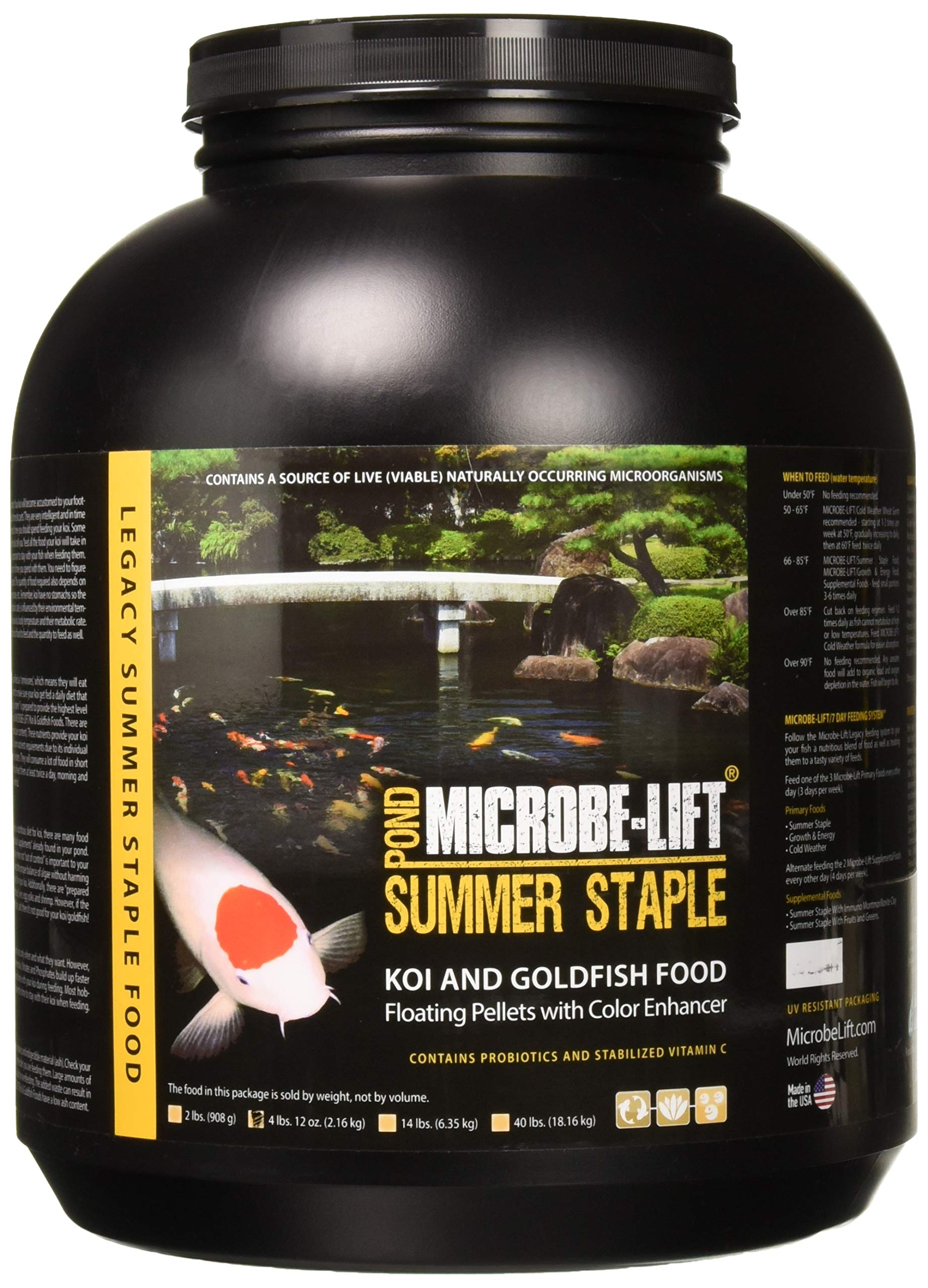 Eco Labs MLLSSLG Microbe Lift Summer Staple 36% Protein Fish Food, 4-Pound 12-Oz by Eco Labs