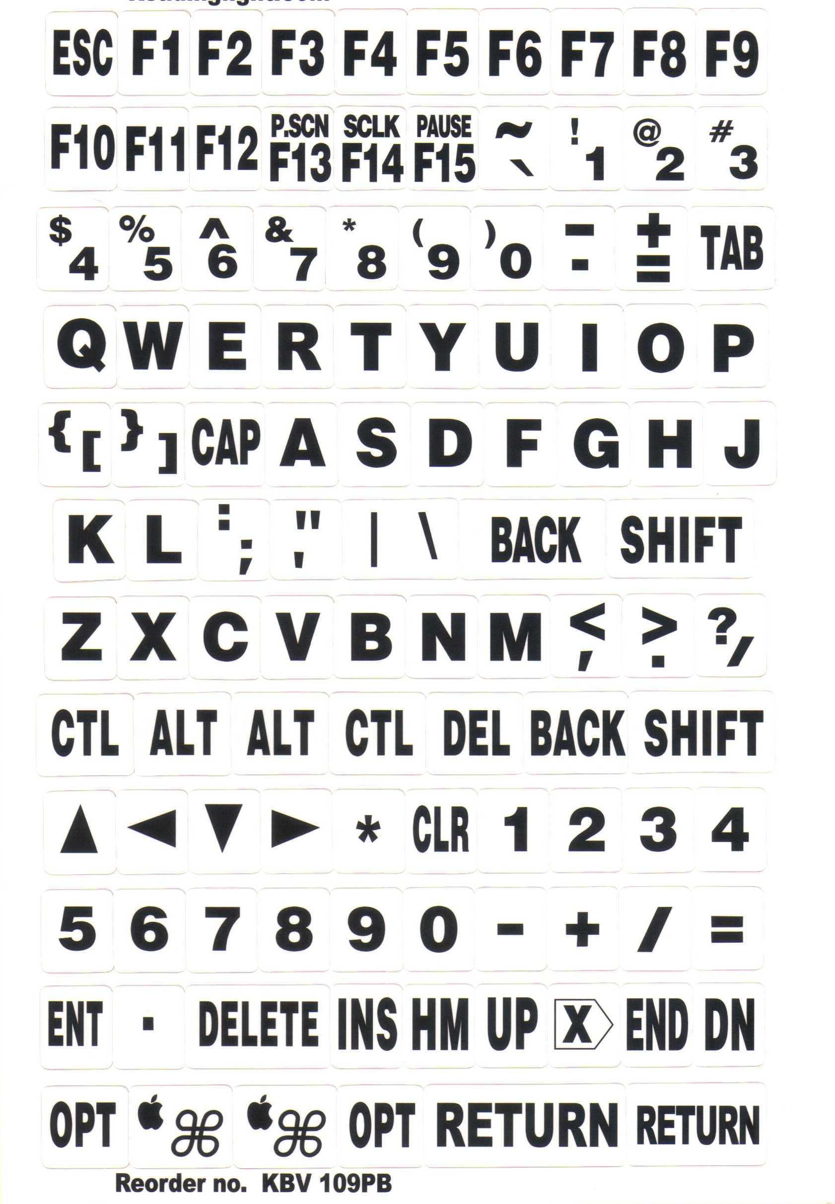 Beam n Read EXTRA BOLD, Large Print Keyboard Stickers, 4 High Contrast Color Combinations for PC & Mac