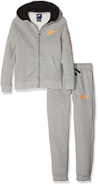 Nike B NSW CF TRK Suit Club GFX - Chándal para niño, Color Gris ...