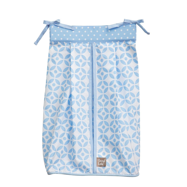 NEW BABY Gift -BNWT Blue//White STAR Trim 100/% Cotton Baby Nappy Stacker