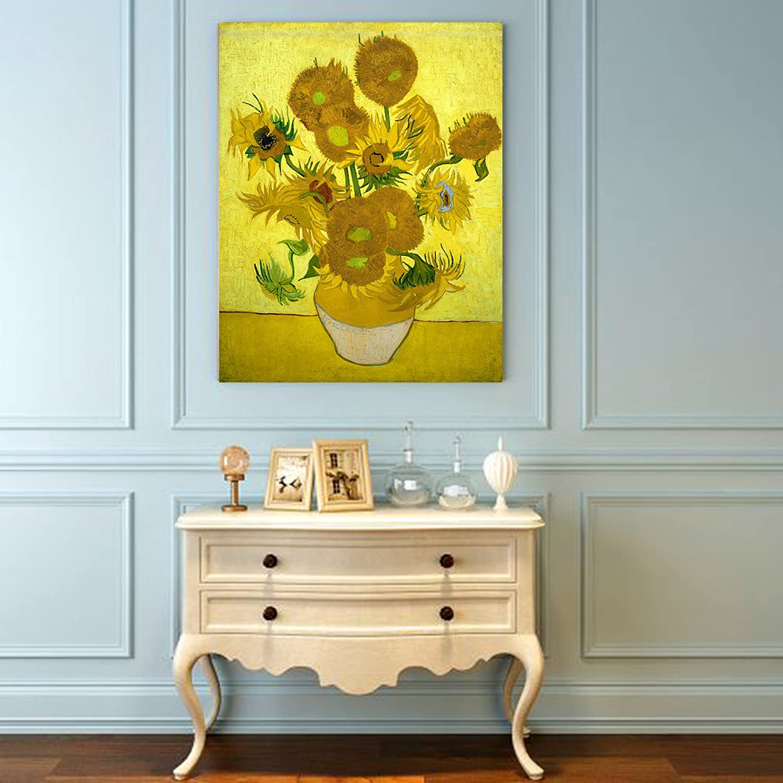 Amazon.com: Niwo Art (TM) - Fifteen Sunflowers, by Vincent van Gogh ...