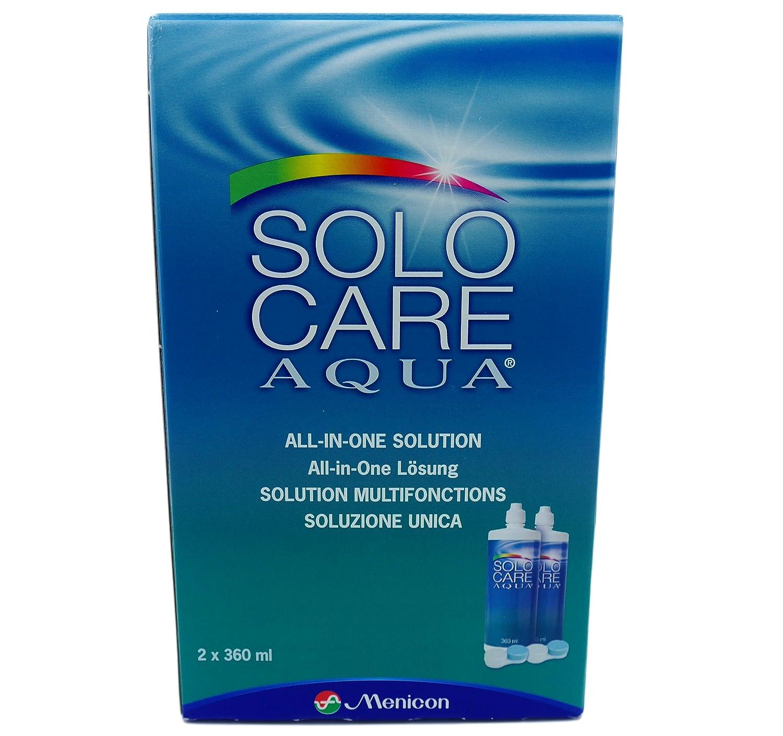 Solocare Aqua Contact Lens Solution 3 Month Pack (360mlx2) Menicon