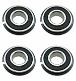 Four (4) Go Kart/Lawnmower Bearings w/Snap Ring