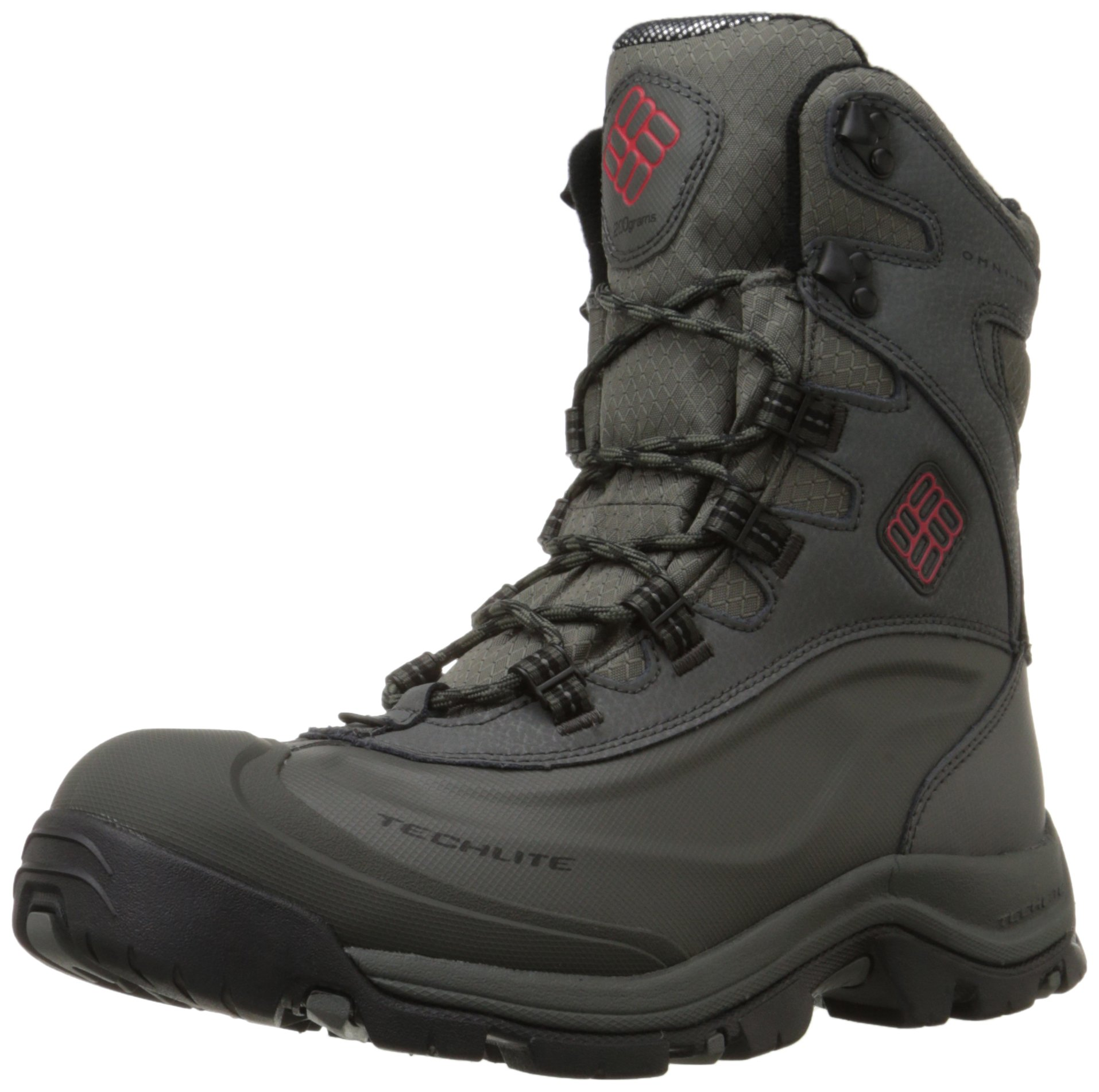 Columbia Men's Bugaboot Plus III Omni Cold Weather Boot, Charcoal/Bright Red, 7.5 D US by Columbia