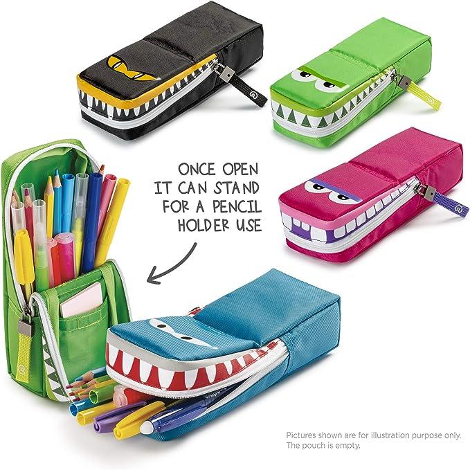 CARIOCA GNAM POUCH | Estuche Escolar con Cremallera y Bolsillo, Rosa Hipopótamo (23280/12): Amazon.es: Juguetes y juegos
