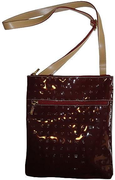Women s Arcadia Purse Handbag Leather Crossbody Polo Red Natural ... 6b1969c806760