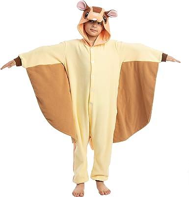 Amazon Com Spooktacular Creations Unisex Child Pajama Plush Onesie One Piece Flying Squirrel Animal Costume Clothing