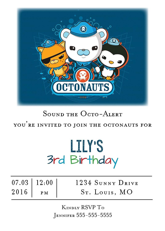 Amazon Com Customized Octonauts Birthday Party Invitation Toys