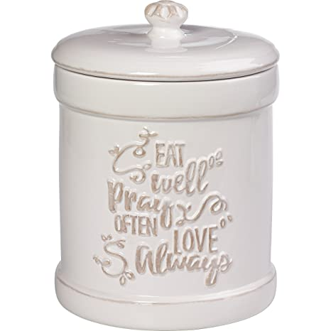 Precious Moments 173413 Ceramic Kitchen Canister Inspirational Home Decor One Size Multi