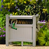 Suncast 100-Foot Capacity Garden Hose Reel Hideaway with Hose Guide, Taupe PHT100