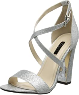 Womens Silver Frill Barely Theres Ankle Strap Sandals Quiz